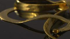 Gold Necklace 1 - stock footage
