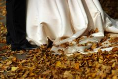 Autumn wedding - stock photo