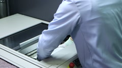 Technology of Automotive Electronic Board in Factory Production Line. - stock footage