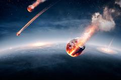 Earth destroyed in global disaster Piirros