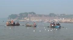 Allahabad prayag - kumbh mela,  Stock Footage