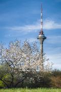 TV tower of Tallinn city, Estonia - stock photo