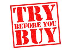 TRY BEFORE YOU BUY Stock Illustration
