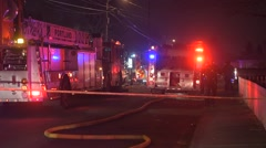 Fire trucks on scene Stock Footage