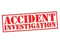 ACCIDENT INVESTIGATION Stock Illustration