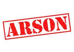 ARSON Rubber Stamp - stock illustration