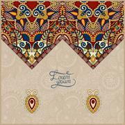 Stock Illustration of oriental decorative template for greeting card