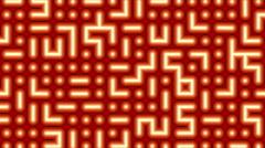 Orange Maze Animated Abstract Motion Background Stock Footage