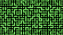 Green Retro Maze Animation Loop Motion Background Stock Footage