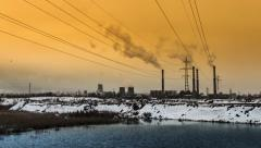 Industrial Air Pollution Stock Footage