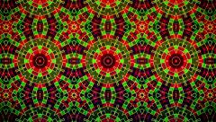 Abstract mosaic in red,green and black - stock footage