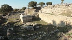 UNESCO World Heritage site of ancient city of Troy Stock Footage