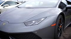 Lamborghini next to Ferrari 458 Italia Stock Footage