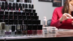 manicure, nail design - stock footage