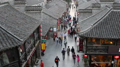 Tourists walking on Dongguan ancient street Stock Footage