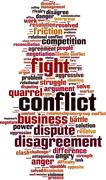 Stock Illustration of Conflict word cloud