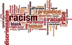 Stock Illustration of Racism word cloud