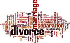 Divorce word cloud - stock illustration