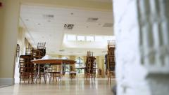 Banquet Empty Before Setup Stock Footage