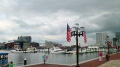 Baltimore Inner Harbor Pier Stock Footage