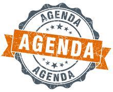 Stock Illustration of agenda orange vintage seal isolated on white
