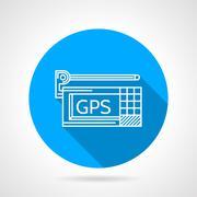 GPS navigator flat line vector icon Stock Illustration