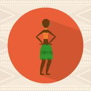 african culture design, vector illustration eps10 graphic - stock illustration