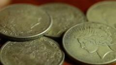 Rare silver dollar dollars Stock Footage