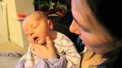 Baby being Burped Stock Footage