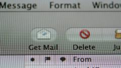 Apple Mail interface panning Stock Footage