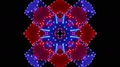 Neon Lights 3, Kaleidoscope - stock footage