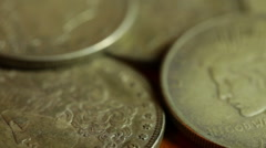 Silver dollars Stock Footage