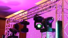 Stock Video Footage of light bullseye techno club