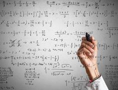 Mathematical calculation Stock Photos