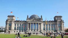 Reichstag building in Berlin, Germany Stock Footage