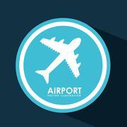 airport signal  design, vector illustration eps10 graphic - stock illustration