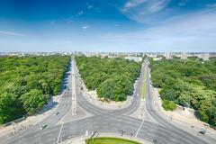 West Berlin as seen from the Victory Column Stock Photos