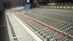 SSL Console Rack Focus 1 Stock Footage