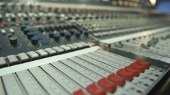 Neve Console Pan up Stock Footage