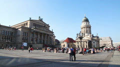 Concert hall (Konzerthaus) at Gendarmenmarkt square in Berlin Stock Footage