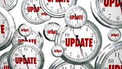 Update New Information Latest Details Clocks Flying By Stock Footage