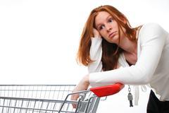 Unhappy Shopper - stock photo