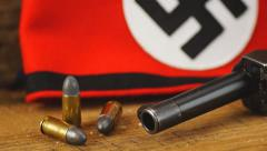 German World War 2,  9mm Luger P38 Pistol. - stock footage