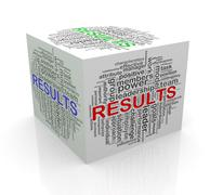 Stock Illustration of 3d cube word tags wordcloud of results