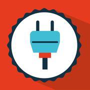 Connector icon design, vector illustration eps10 graphic Stock Illustration