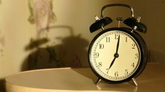 Vintage alarm clock Stock Footage