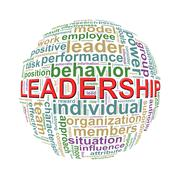 Wordcloud word tags ball of leadership - stock illustration
