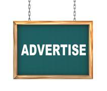 Stock Illustration of 3d hanging banner - advertise
