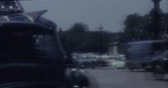Paris Vintage 60s 16mm Tourist Bus Stock Footage