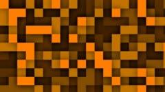 Transition Pixels Orange Stock Footage